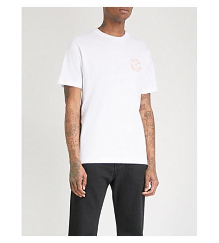 BORN X RAISED Westside Rocker logo-print cotton-jersey T-shirt (White