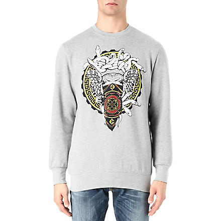 CROOKS AND CASTLES Horsebit Medusa sweatshirt (Grey