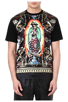 CROOKS AND CASTLES Printed satin t-shirt