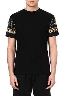 CROOKS AND CASTLES Chain-print sleeve t-shirt
