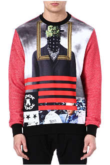 CROOKS AND CASTLES Cotton printed sweatshirt