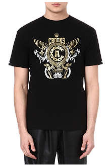 CROOKS AND CASTLES Greco emblem t-shirt