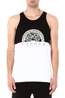 CROOKS AND CASTLES Greco Bandit vest top