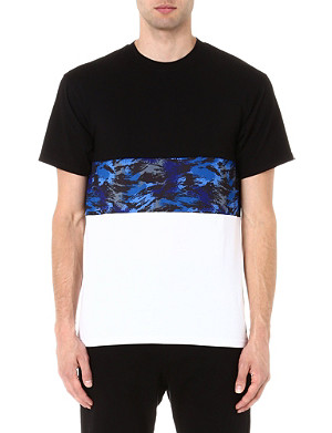 CROOKS AND CASTLES Multi-panel cotton t-shirt