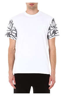 CROOKS AND CASTLES Chain leaf panel t-shirt