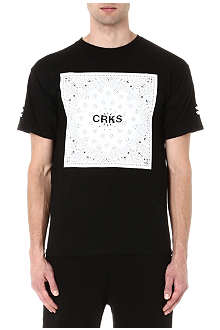 CROOKS AND CASTLES CRKS block print t-shirt