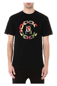 CROOKS AND CASTLES Apparition chain logo t-shirt