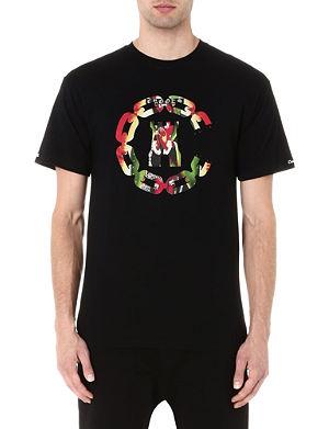 CROOKS AND CASTLES Apparition chain logo t-shirt
