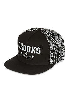 CROOKS AND CASTLES Half bandit snapback