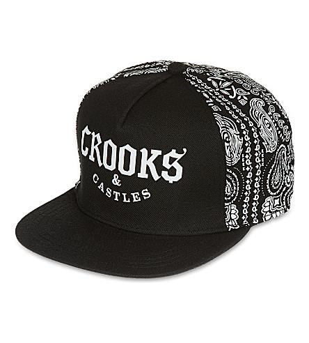CROOKS AND CASTLES Half bandit snapback (Black