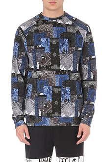 CROOKS AND CASTLES Luxe Bandit paisley-print sweatshirt