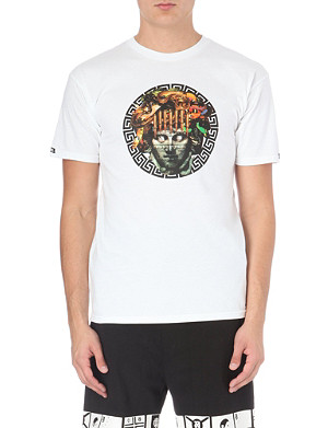 CROOKS AND CASTLES Statue Head Greco Bullet t-shirt