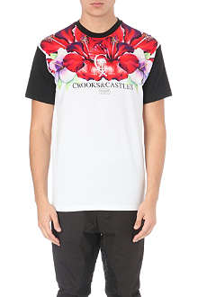 CROOKS AND CASTLES Hibiscus-print t-shirt