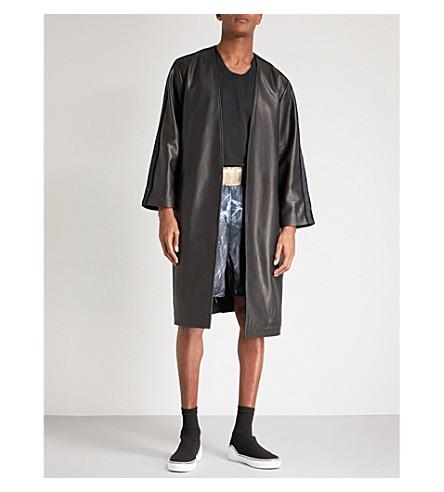 CLOTHSURGEON Lamyland leather robe (Black