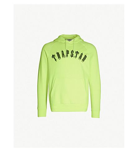 TRAPSTAR Irongate logo-print jersey hoody (Neon