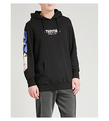 TRAPSTAR Manga cotton-jersey hoody (Black