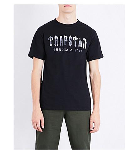 TRAPSTAR Camo Decoded cotton T-shirt (Black