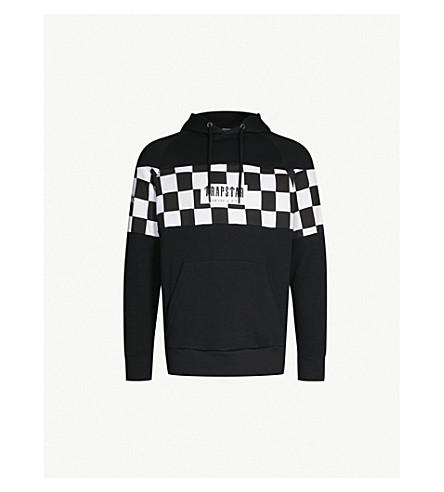 TRAPSTAR Checkerboard jersey hoody (Black check