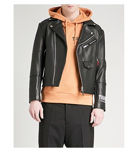TRAPSTAR Death Metal leather jacket (Black