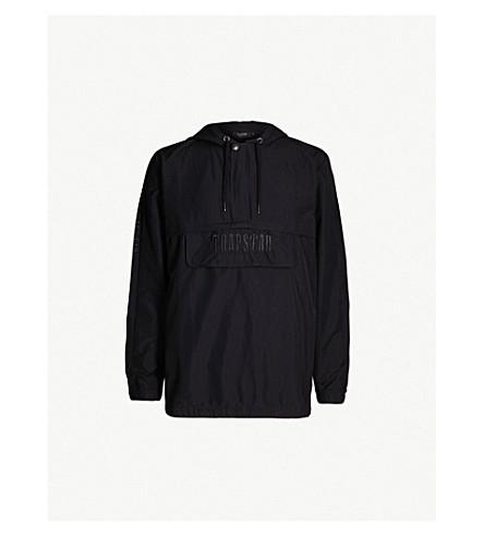 TRAPSTAR Decoded logo-print shell hoody (Black