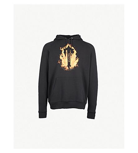 TRAPSTAR Fire flame-print jersey hoody (Black