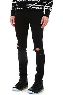TRAPSTAR Leather-washed slim-fit jeans