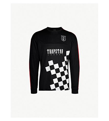 TRAPSTAR Checkerboard-print sports-jersey T-shirt (Checker