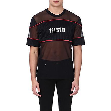 TRAPSTAR Mesh football t-shirt (Black