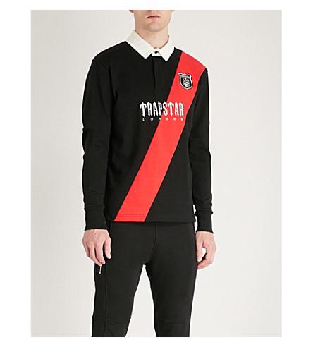 TRAPSTAR 条纹棉衫球衣 (黑色
