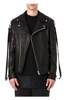 TRAPSTAR Leather biker jacket