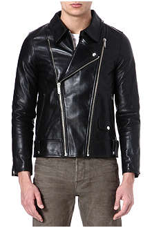 GOLDEN GOOSE DELUXE BRAND Leather biker jacket