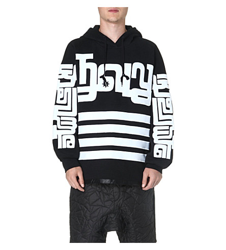 KTZ Symbol sleeve cotton hoody (Black/white