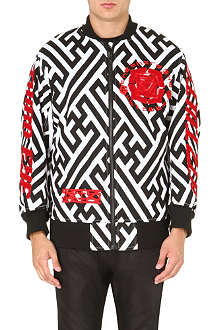 KTZ Geometric-print embroidered bomber jacket