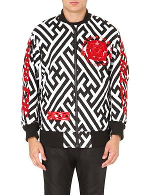 KTZ Geometric-print embroidered bomber jacket