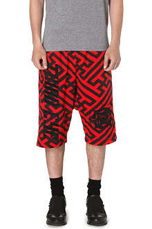KTZ Geometric dropped crotch shorts