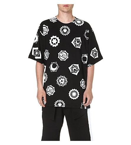KTZ Symbol print cotton t-shirt (Black/white