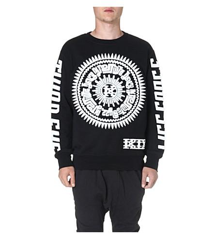KTZ Circle symbol cotton sweatshirt (Black/white