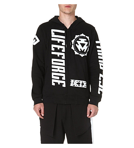 KTZ Life Force printed cotton hoody (Black/white