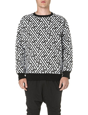 KTZ Geometric print cotton sweatshirt