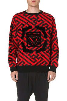 KTZ Geometric print cotton sweatshirt