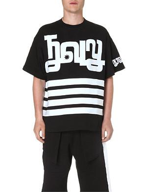 KTZ Printed symbol striped t-shirt