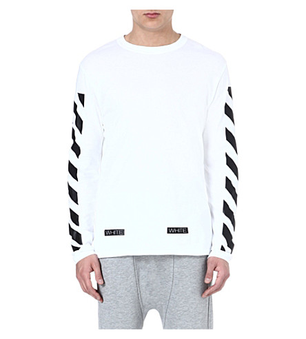 OFF-WHITE C/O VIRGIL ABLOH Striped long-sleeved top (White