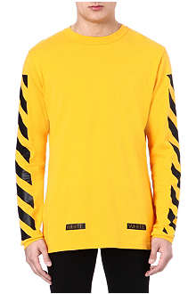 OFF-WHITE C/O VIRGIL ABLOH Striped long-sleeved top