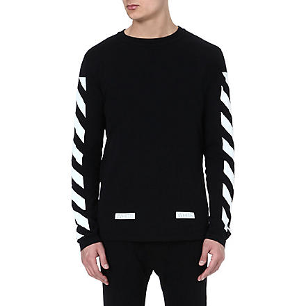 OFF-WHITE C/O VIRGIL ABLOH Striped long-sleeved top (Black