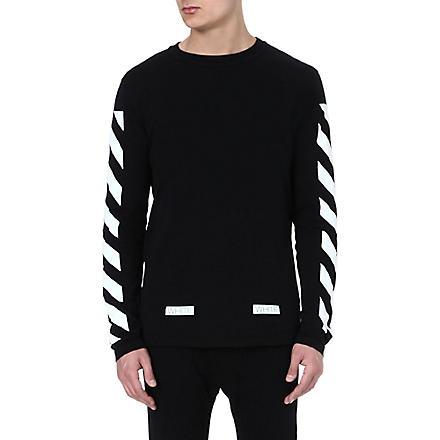 OFF-WHITE C/O VIRGIL ABLOH Striped long-sleeved top (Black