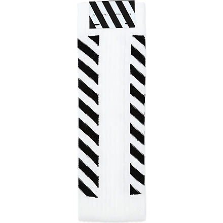 OFF-WHITE C/O VIRGIL ABLOH Striped socks (White