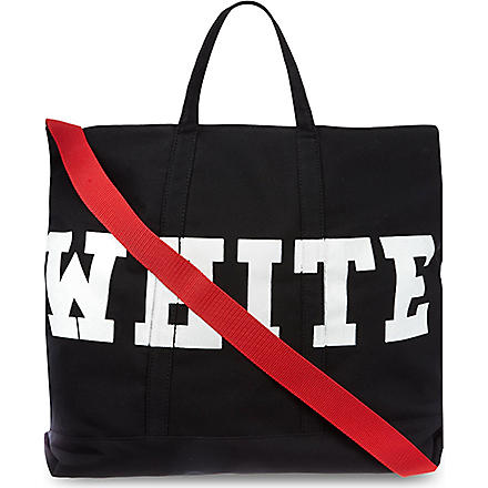 OFF-WHITE C/O VIRGIL ABLOH Canvas striped tote (Black
