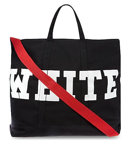 OFF-WHITE C/O VIRGIL ABLOH Canvas striped tote (Black
