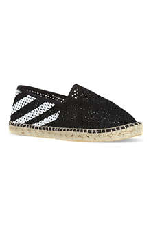 OFF-WHITE C/O VIRGIL ABLOH Striped rope espadrilles
