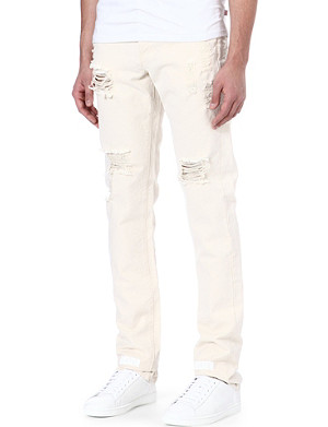 OFF-WHITE C/O VIRGIL ABLOH Striped Bull regular-fit tapered jeans